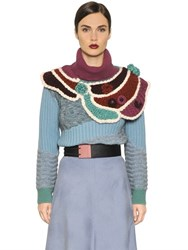I'm Isola Marras Patchwork Wool Blend Sweater