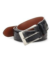 Saks Fifth Avenue Genuine Crocodile Skin Belt Black