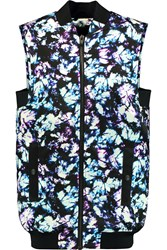 Alexander Wang Printed Satin Twill Gilet Purple