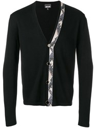 Just Cavalli Stripe Detail Cardigan Black