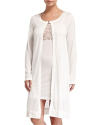 La Perla Iris Long Sleeve Robe White