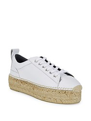Mcq By Alexander Mcqueen Leather Lace Up Espadrilles White