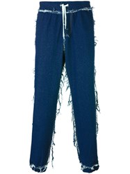 Andrea Crews Cuffed Straight Jeans Blue