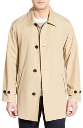Men's Cole Haan Water Resistant Overcoat Khaki