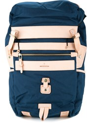As2ov Oversized Backpack Men Nylon One Size Blue
