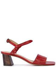 Mari Giudicelli Vitta Sandals Red