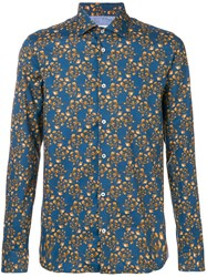 Manuel Ritz All Over Print Shirt Blue