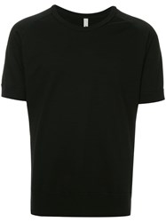 Attachment Raglan Sleeve T Shirt Black