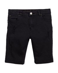 Stella Mccartney Moses Distressed Denim Shorts Black