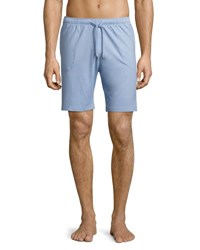 Derek Rose Basel Jersey Lounge Shorts French Blue Light Blue