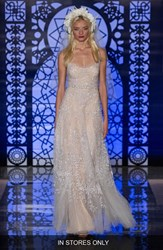 Women's Reem Acra 'Chloe' Beaded And Embroidered A Line Dress In Stores Only