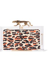 Charlotte Olympia Savage Pandora Perspex Clutch Clear