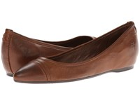Frye Alicia Ballet Cognac Soft Vintage Leather Women's Flat Shoes Brown