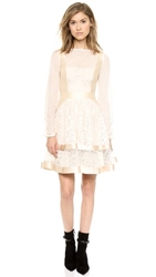 Temperley London Cruz Mini Dress Almond