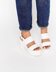 Asos Total Chunky Platform Sandals White
