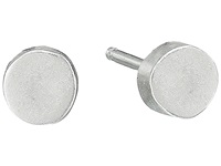 Dogeared The Circle Thick Circle Stud Earrings Sterling Silver Earring