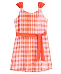 Maison Jules Little Girls' Gingham Fit And Flare Dress Only At Macy's Rave Red Combo