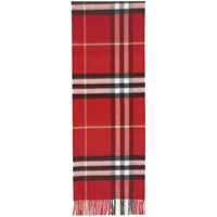 Burberry Red Check The Cashmere Classic Scarf