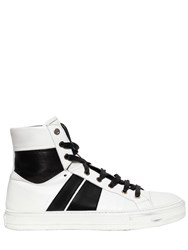Amiri Sunset Leather High Top Sneakers White Black