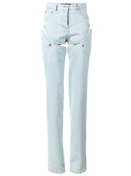 Y Project High Waisted Convertible Jeans Women Cotton 42 Blue