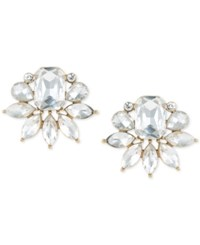 Trina Turk Gold Tone Crystal Cluster Stud Earrings