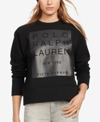 Polo Ralph Lauren Fleece Graphic Print Sweatshirt Polo Black