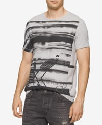 Calvin Klein Jeans Men's Graphic Print T Shirt Lt Grey Heather