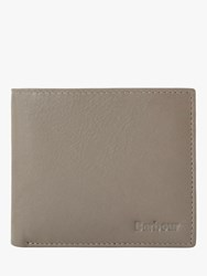 Barbour Farsley Leather Bifold Wallet Grey