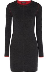 Rag And Bone Merino Wool Sweater Dress Charcoal