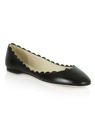 Daniel Scalloped Edge Ballet Pumps Black