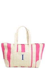 Cathy's Concepts Personalized Stripe Canvas Tote Pink Pink I