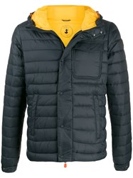 Save The Duck Hooded Padded Jacket Grey