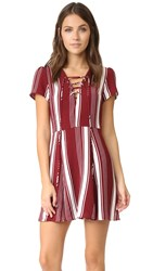 Lovers Friends Compass Fit And Flare Dress Cranberry Stripe