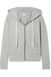 James Perse Cotton Jersey Hoodie Gray