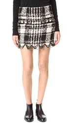 Alexander Wang Miniskirt With Hardware Black And White