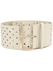 Twin Set Hole Detail Belt Nude And Neutrals