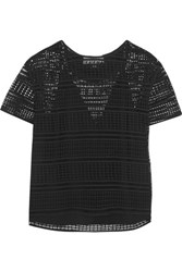 By Malene Birger Onestianna Broderie Anglaise Cotton Top Black