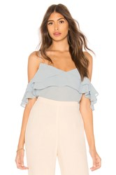 Line And Dot Gemma Top Baby Blue
