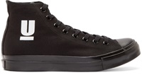 Undercover Black Canvas High Top Sneakers