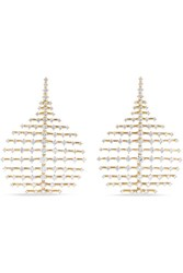 Fernando Jorge Disco Small 18 Karat Gold Diamond Earrings Rose Gold