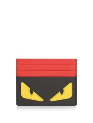 Fendi Bag Bugs Leather Cardholder Black Multi