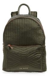 Ted Baker London Quilted Bow Backpack Green Dark Green