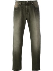 Eleventy Slim Fit Jeans Green