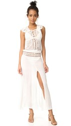 For Love And Lemons Martinique Maxi Dress White