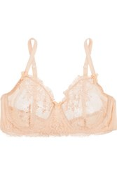 Mimi Holliday By Damaris Every Yours Lace Trimmed Silk Blend Bra Neutral