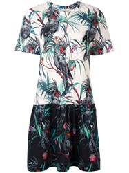 Paul Smith Ps By Macaw Print Flared Dress