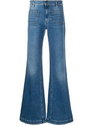 Red Valentino Flared Mid Rise Jeans 60