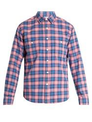 Faherty Seasons Plaid Brushed Cotton Shirt Red Multi