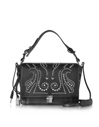 Zadig And Voltaire Studded Black Leather Optimist Shoulder Bag