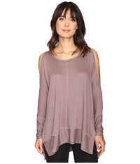 Culture Phit Andreea Top With Side Slits Mocha Women's Clothing Brown